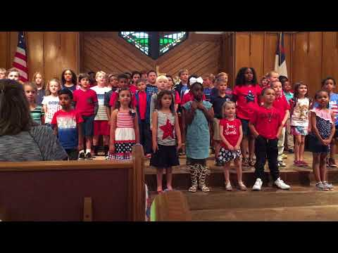 New Hope Lutheran Academy children singing