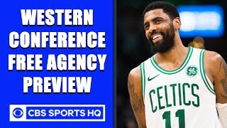 Western Conference Free Agency Preview | Can Kyrie JOIN LeBron and the Lakers? | CBS Sports HQ