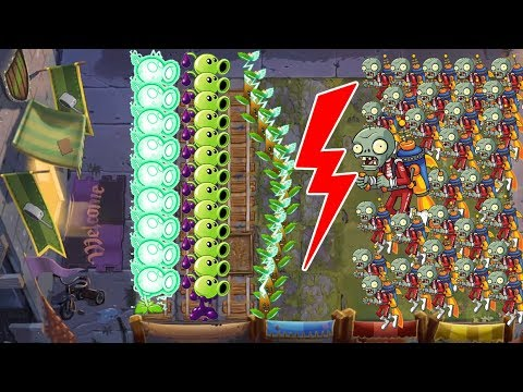 Pvz 2 Battlez - Electric Tea vs Goo Pea vs 999 Zombies Pvz 2