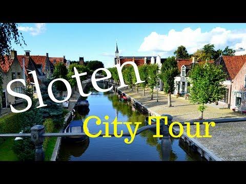 Sloten (Sleat) Friesland (Fryslân), The Netherlands.. (City Tour) GoPro