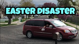 Kid Temper Tantrum Throws Daddy\'s Easter Basket Out Car Window - Uncle Jay - Final Days PT3