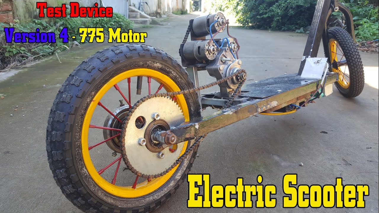 Build a Electric Scooter using Version 4 - 775 Motor (Test device)