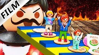 Playmobil Film Deutsch ENTKOMME AUS BÖSER PIZZERIA! EINGESPERRT WEGEN SCHLECHTER PIZZA Familie Vogel