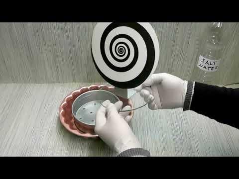 Energy salt water battery test