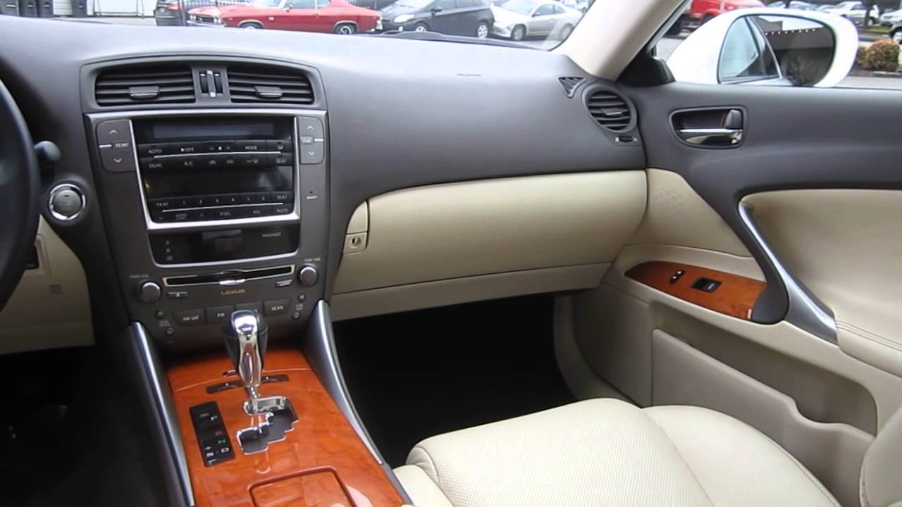 Captivating 2009 Lexus IS250, White   STOCK# 029095   Interior