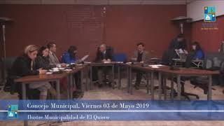 Concejo Municipal Viernes 03 Mayo 2019 - El Quisco