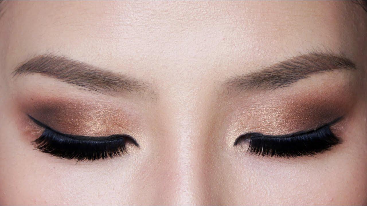 Easy Bronze Smokey Eye Makeup For Hooded Eyes Youtube