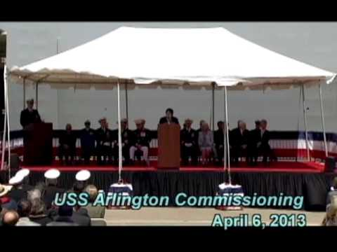 USS Arlington Commissioning Ceremony, April 6 2013
