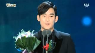 Video [31.12.14]Kim Soo Hyun - Excellent Actor SBS Drama Awards 2014 download MP3, 3GP, MP4, WEBM, AVI, FLV Maret 2018