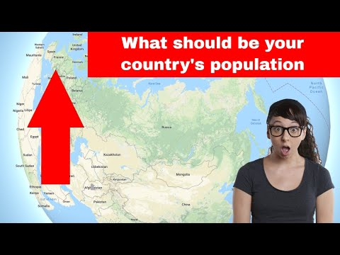 What if you distribute the world population evenly to all countries. Top 25 List.