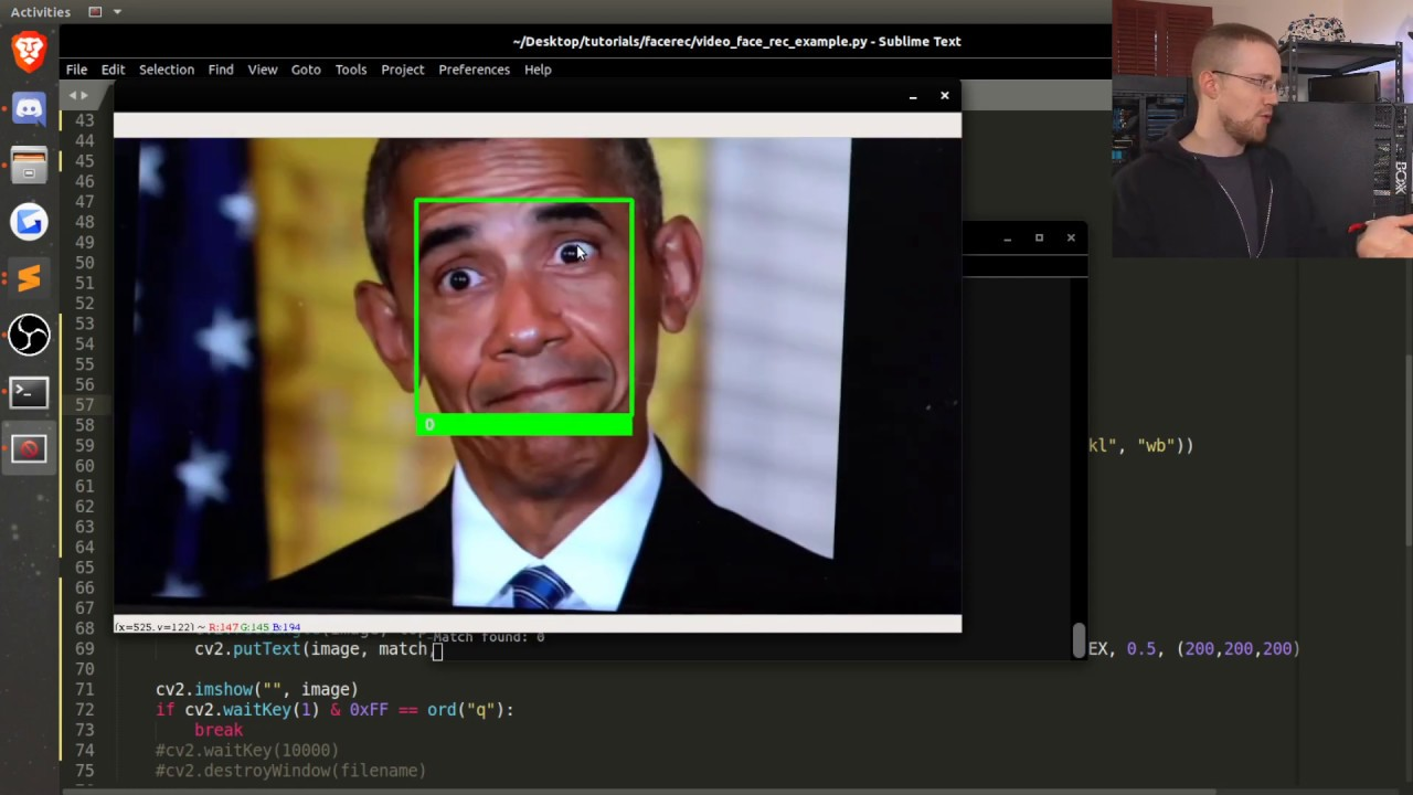 Facial Recognition on Video with Python - YouTube