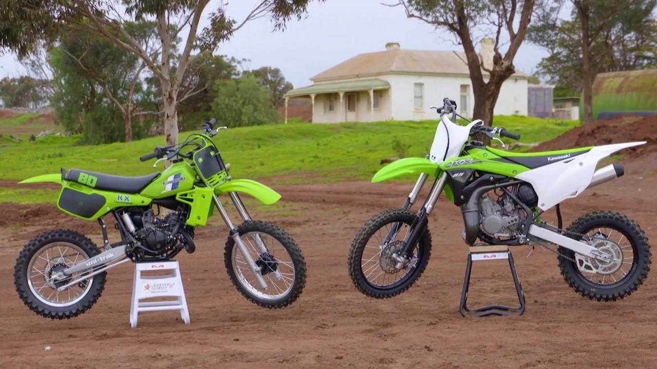 Mxtv Bike Test Kawasaki 1983 Kx80 Versus 2016 Kx85 Youtube