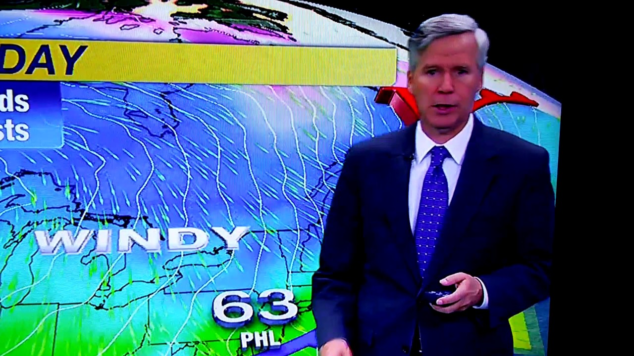 6ABC's David Murphy sneezes while reporting the weather