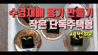 수경재배 용기만들기 커피컵이용 햇빛완벽차단 #채소키우기…