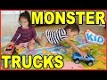 Kid Connection Fast Trax Monster Trucks - Toys for Boys, Girls, Toddlers