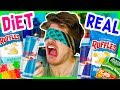 DIET VS REAL FOOD TASTE TEST!