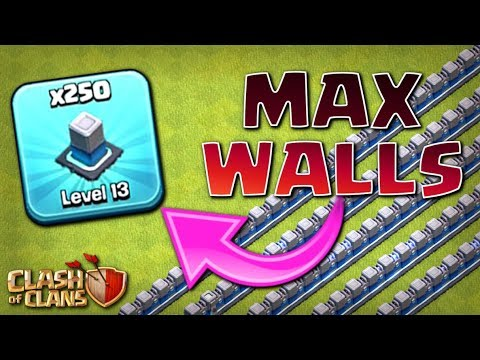 250x MAX WALLS!  TH12 Farm To Max | Clash Of Clans