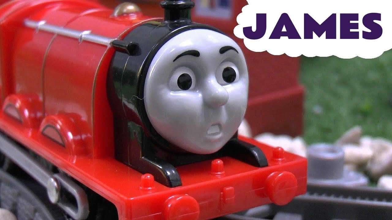 Uncategorized James Thomas And Friends scared james thomas and friends trackmaster engine toy train set y sus amigos tomas youtube