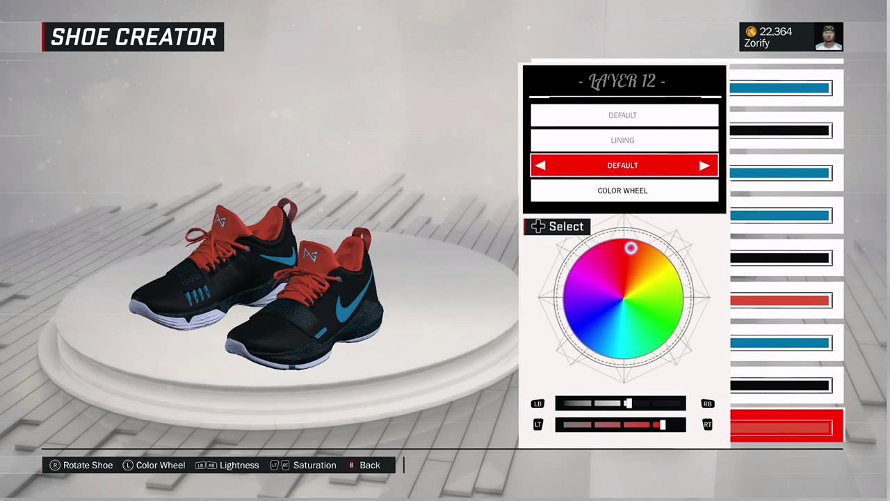 NBA 2K17 Shoe Creator - Nike PG 1 Custom
