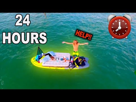 24 HOUR OVERNIGHT CHALLENGE ON A PADDLE BOARD !! **GONE WRONG** (Stranded In The Ocean)