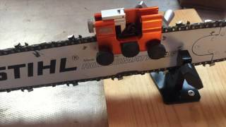 How to sharpen a chainsaw.... with the Timberline chainsaw sharpener