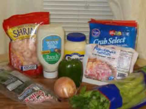 Crab Meat Shrimp Salad Youtube