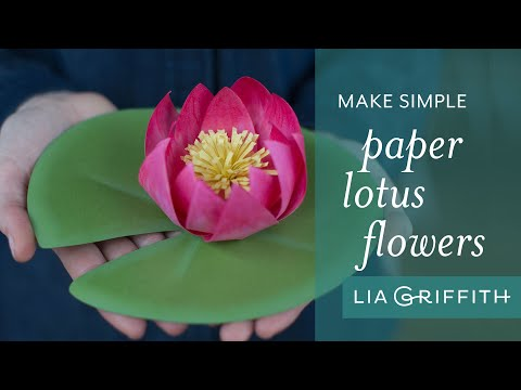 Quick And Easy Diy Paper Lotus Flower Tutorial Youtube