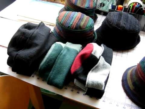 Making hats out of sweaters