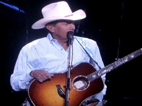 George Strait talking at the opening of the Dallas Cowboys Stadium