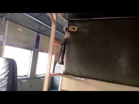 Railway Pakistan: Economy Class coach interior of New upgraded Awam Express train
