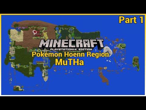 Minecraft PS4 Hoenn Region Map - YouTube
