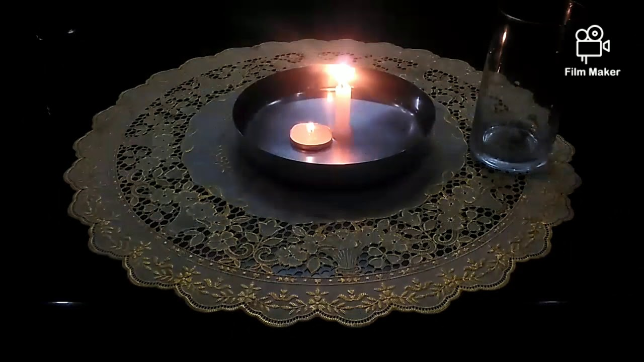 Drinking candle experiment - YouTube