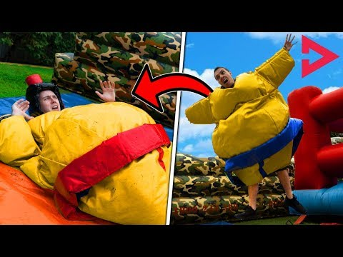 ULTIMATE SUMO WRESTLING! Ft. Lazarbeam, Muselk,  Loserfruit, Crayator, BazzaGazza and Marcus