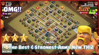Clash of Clans⭐The Best & Strongest Army for War New TH12⭐Qwalk Wall Brecker BoWiPe & Miner