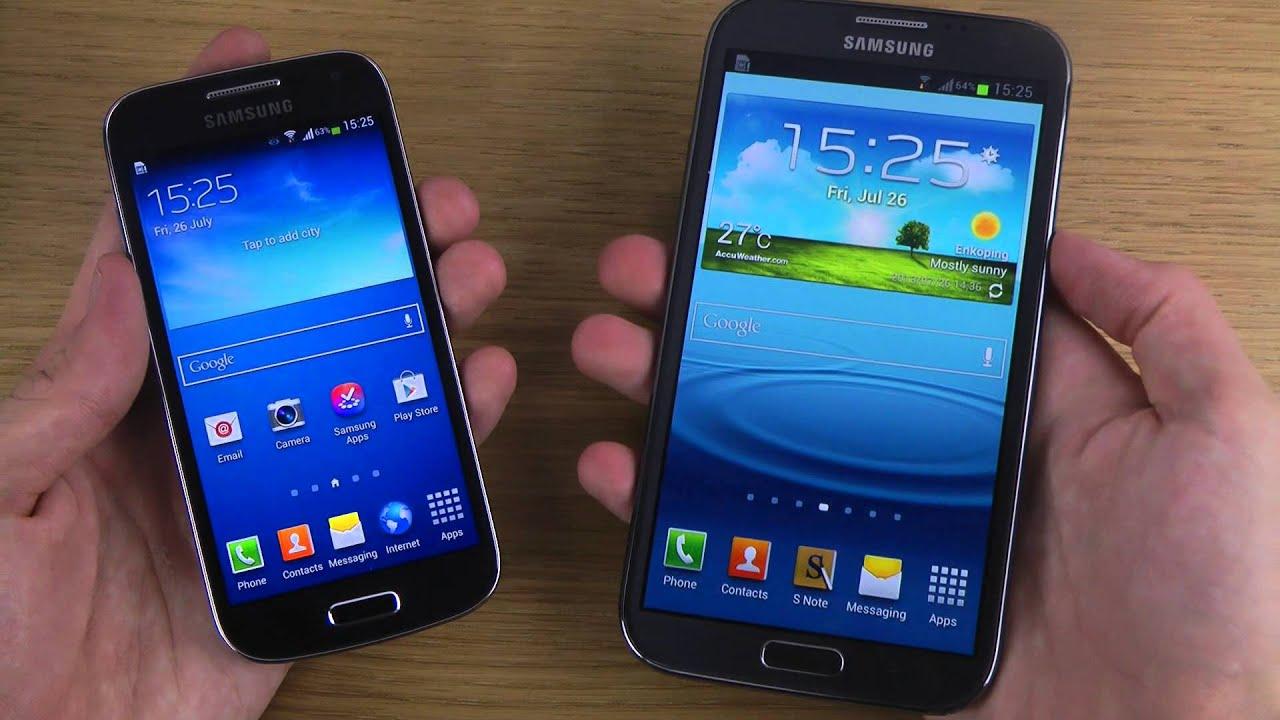 Samsung Galaxy S4 Mini vs. Samsung Galaxy Note 2 - Which ...
