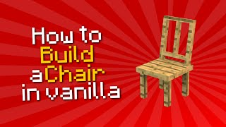 ✗ Minecraft: How to build a chair in vanilla | Tutorial