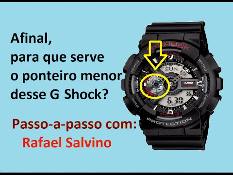6b66300cf72 Casio G shock Ga-110  Para que serve o ponteiro menor  (Parte 2 7 ...