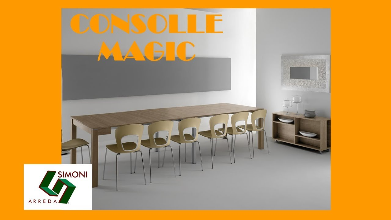 Tavolo Consolle Magic Allungabile.Tavolo A Consolle Allungabile Magic 320 Cm Youtube