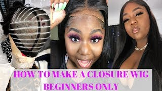 HOW TO MAKE A WIG CLOSURE  LIKE A PRO || BEGINNERS ONLY || DSOAR BODYWAVE HAIR