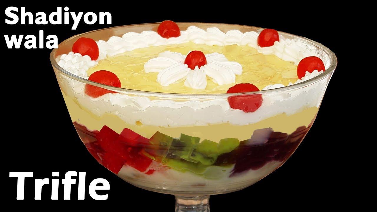 Fruit Trifle Recipe How To Make Custard Fruit Trifle Easy