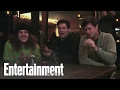 The 'Workaholics' dudes impersonate each other over beers