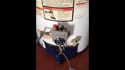 gas valve leak