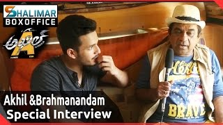 akhil interviews brahmanandam akhil the power jua movie making sayesha saigal vv vinayak