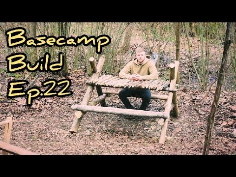 Bushcraft Picnic Table - Bushcraft Basecamp Build Ep.22