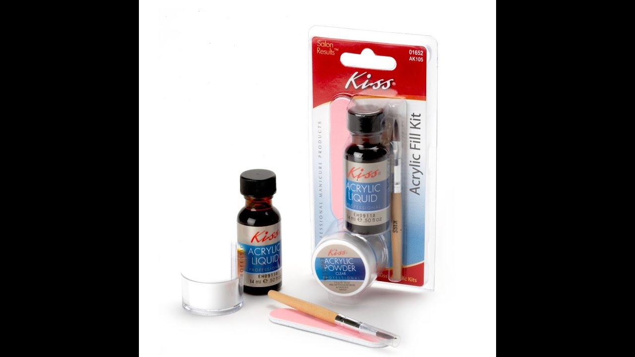 Kiss Acrylic Nail Set: Kiss Acylic Nail Tutorial Demo
