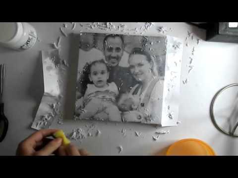 DIY Transfer a Photo to Canvas