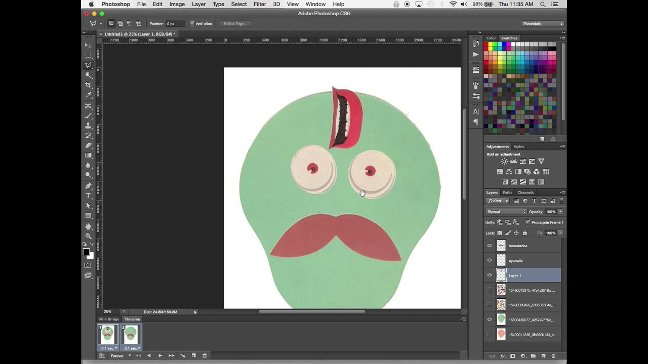 Working with Frames and Layers to create Animated GIFs in Photoshop ...