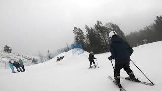 Катка на горных лыжах Коробицыно курорт Красное озеро 01 01 2021