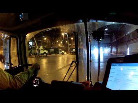 Waste Management Front Load Driver Working