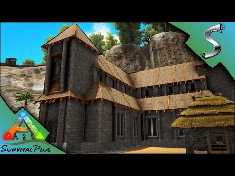 BUILDING THE TOWN HALL! EPIC NEW STRUCTURE + WATER WELL! - Ark: Survival Plus [Gameplay E27]